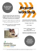 KCC Virtual Resume Workshop Flyer