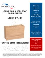 Novolex Job Fair Flyer 2020
