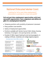 National Dislocated Worker Grant