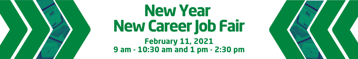 New Year New Career Fair banner